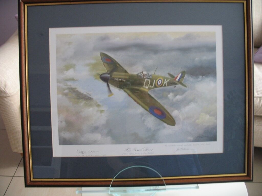 Signed limited edition of 'The Finest Hour' spitfire print