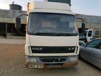 Daf lf 7.5 tonne lorry (2004) breaking for parts only all parts available p nationwide