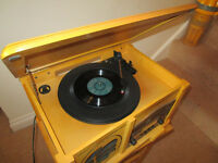 Wooden cabinet retro-style radio/cd/record player - working, but hardly used