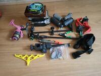 Selection of fishing equipment.
