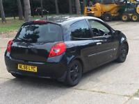 2007 RENAULT CLIO DYNAMIQUE S 1.4 BLACK LOW MILES DRIVES GOOD BLACK WHEELS AUX BARGAIN SPARES