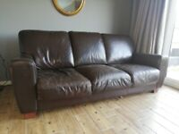 FREE - 3 seater leather sofa