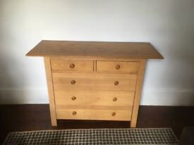Habitat solid wood chest of drawers. Vintage
