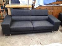 Sofa's 3 Seater, 2 Seater and Foot Stool