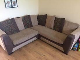 Tweed/suede corner sofa bargain £150 ono