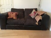 Three and two seat sofas - leather and fabric