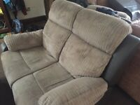 2 2 seaters recliners