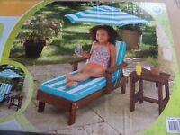 Kidkraft Fun In The Sun Chaise Lounger Set