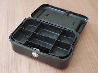 Strong, metal, lockable petty cash box...