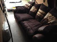 Large 2 seater sofa cuddle chair