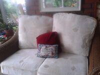 Quality five piece cane conservatory suite