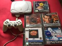 Sony psone console and games ps1 PlayStation