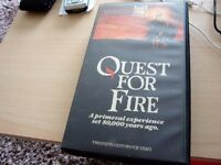 QUEST FOR FIRE PRE CERT VIDEO TAPE IN GOOD CONDITION