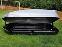 Halfords 420L Roof Box & Thule roof Bars & rapid system 753