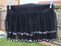 2 x black skirts with silver detail