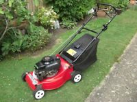 MOUNTFIELD LASER DELTA ROTARY PETROL LAWNMOWER, WITH REAR ROLLER.
