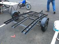 Three bike or quad motorcycle trailer