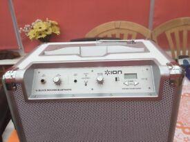 ION Block Rocker M5 50 W Portable PA Speaker (silver) Bluetooth