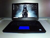 NEW ALIENWARE GAMING LAPTOP 15,6 IPS - QUAD CORE i7 - DEDICATED GTX - SSD - 16GB -WARRANTY -DELIVERY, used for sale  Leicester, Leicestershire
