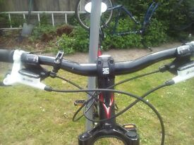 whyte 801 series pro racer mtb 27grs hydro disc brakes jump shocks front all original features £350