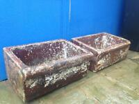 two relaimed vintage water trough's/ flower planter/ garden features. £75.00 each!!