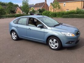 Lovely Blue Ford Focus Hatchback for Quick Sale (£2850). Low Mileage (53 500). Willing to negotiate