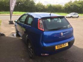 Blue Fiat Punto Evo