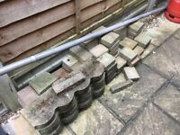 Free paving blocks and edging. As seen in photo. Ready for collection