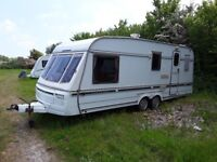 Swift conqueror 560 3+4 berth rwin axle caravan