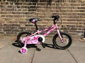 """Pink Saracen children's bike 14"""" wheels"""