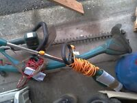Bosch strimmer £10 and hedge trimmer £15