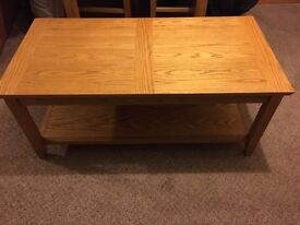 Solid wood coffee table from John Lewis immaculate condition