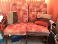 2 seater wicker sofa, conservatory furniture