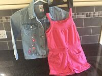 Denim jacket(girls)and jumpsuit age2-3