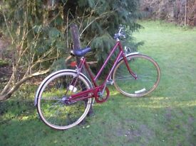 hercules commuter ladies vintage 3 speed bicycle,all original,superb condition 20 in frame