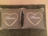 Two Home cushions - Grey colour