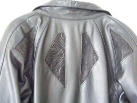 Ladies Leather Jacket 3/4 Black