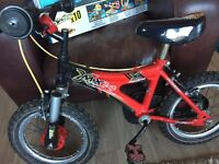"Boys 14"" Raleigh bike-VgC"
