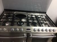 Stainless still belling 110cm dull full cooker grill & double fan assisted ovens with guarantee