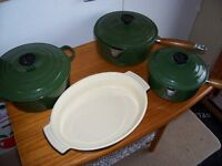 Le Creuset Cast Iron Saucepans and Casserole Dish, Stoneware Open Dish
