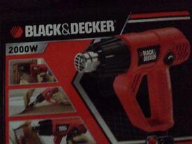Black & Decker 2000w Heat Gun + accessories collection only