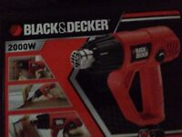 Black & Decker 2000w Heat Gun + accessories collection only