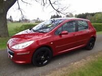 "PEUGEOT 307 HDi Sport, 2006 , Leather,Towbar, 17"" Alloys New Avons!"