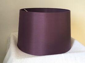 Purple silk John Lewis lightshade
