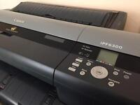 Canon IPF6300 printer with 5 rolls of media