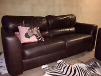 Can Deliver- Modern Leather 3 and 2 Seater Sofa Suite