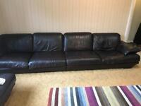 Natuzzi 2030 sofa 12 ft + 3 seater , single & stool