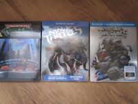BLU RAY STEELBOOKS X3 TEENAGE NINJA TURTLES NEW