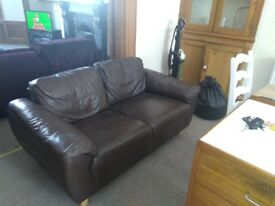 2 seater leather sofa (2 available) very good condition