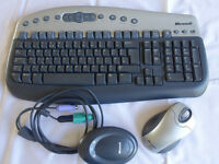 Microsoft Wireless Multimedia Keyboard (wireless optical Mouse USB/PS2) Plus Rx
